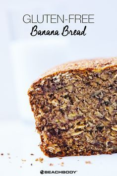 This recipe for Gluten-Free Banana Bread is moist, sweet, and spiced just right. A perfect (and healthy) choice when a craving strikes! Click through for the delectable recipe. // healthy recipes // gluten free recipes // bread recipes // healthy bread // banana bread // baking // snacks // Beachbody // BeachbodyBlog.com // NaturalGirlModernWorld.com