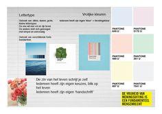 Concept 2: moodboard: Gebruik van vrolijke kleuren, afwisselend grote en kleine lettertypes, dik en dun,.. Omdat iedereen zijn eigen 'handschrift' heeft en zijn eigen voorkeur voor kleuren zoals we in het echte leven allemaal onze eigen en verschillende keuzes maken