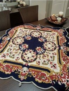 Hand Embroidery, Unique Gifts, Rugs, Table, Handmade, Home Decor, Ornament, Farmhouse Rugs, Dots