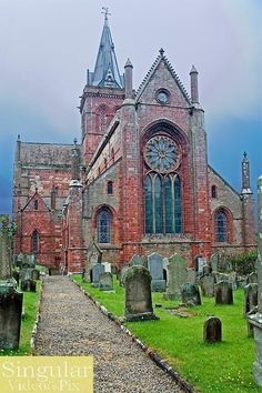~St Magnus Cathedral Kirkwall Orkney, Scotland Photo by Harold Stiver~