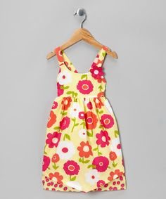 Take a look at this Yellow & Pink Floral Dress - Toddler by Penelope Mack on #zulily today!