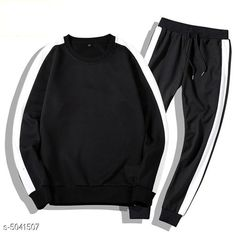 Tracksuits Sleek Style Men's Tracksuits  Fabric: Polyester  Sleeves: Sleeves Are Included  Size: S - Top - Chest - 38  in Length - 27 in Bottom - Waist - 30 in M - Top - Chest - 40 in Length - 28 in Bottom - Waist - 32 in L - Top - Chest - 42 in Length - 29 in Bottom - Waist - 34 in   XL - Top - Chest - 44 in Length - 29.5  in Bottom - Waist - 36 in   XXL - Top - Chest - 46 in Length - 30 in Bottom - Waist - 38 in Type: Stitched Description: It Has 1 Piece Of  Men's Top & 1 Piece Of Bottom Pattern :Solid Country of Origin: India Sizes Available: S, M, L, XL, XXL *Proof of Safe Delivery! Click to know on Safety Standards of Delivery Partners- https://ltl.sh/y_nZrAV3  Catalog Rating: ★4 (2939)  Catalog Name: Divine Sleek Style Men's Tracksuits Vol 8 CatalogID_741186 C70-SC1402 Code: 147-5041507-