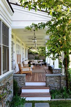 Enjoy your property and privacy in style with the right back porch design scheme.