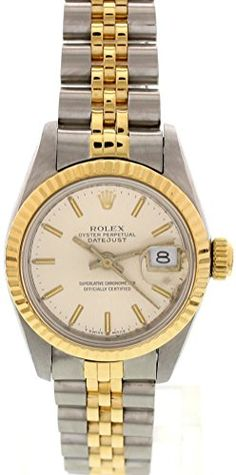 Rolex Datejust swiss-automatic silver womens Watch 69173 (Certified Pre-owned)
