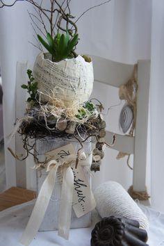 """Frühling - Osterdeko """" Hyacinthus...."""" - ein Designerstück von Hoimeliges bei DaWanda"""