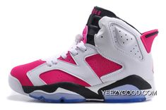 244815cc70c Top Deals Hottest Sportswear Air Jordan 6 Retro GS White-Black Bright Pink  For Jordans
