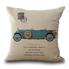 Vintage Cars Pillow Covers
