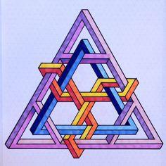 Impossible triangle illusion