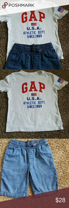 Boys shorts and a shirt Gap boys  shorts and the shirt GAP Other