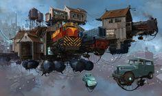 """The Sci-Fi Archive - Retrofuturistic vehicles by Alejandro """"Burda""""..."""