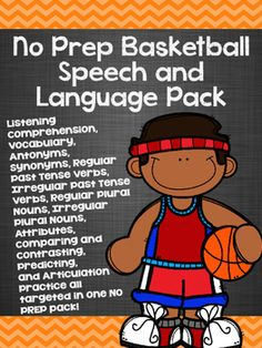 11 different speech and language skills targeted in one basketball pack!