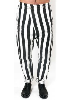 "BARBARA I GONGINI ""STRIPPED TAILORED LINEN PANTS"" 100% LINEN : 480 € -30% >> 336 €"