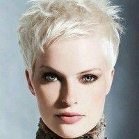 blonde pixie hairstyle