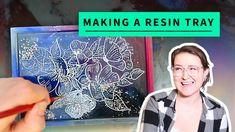 Embossed Flower Galaxy Resin Tray Tutorial Diy Epoxy, Epoxy Resin Art, Wood Resin, Diy Resin Furniture, Art Furniture, Resin Tutorial, Diy Tutorial, Epoxy Wood Table, How To Make Resin