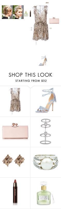 """""""Untitled #2659"""" by gracewirth101 ❤ liked on Polyvore featuring Chloé, Dorothy Perkins, Ted Baker, Messika, Lanvin, Exex Design, Hourglass Cosmetics and Carven"""