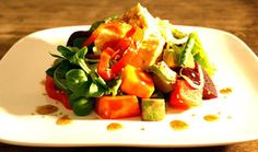 A wonderful variety of hearty summer salads.
