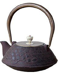 Cast Iron Teapots Flat Copper Lid Tea kettle. Made in Japan. Tetsubin Material: Cast iron; Capacity: about 33oz./1Litre; Cute and Beautiful for Best Gift for Someone for Special Day Sturdy and Keep Warm; Best Choice for Collection Can Improve Water Quality, Promote the Tea or Coffee Taste and Prevent Anemia.