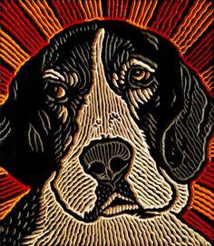 cleo the dog (Lisa Brawn) Tags: portrait dog graphics popart woodcut postpop Woodcut Art, Linocut Prints, Art Prints, Block Prints, Engraving Printing, Wood Engraving, Stamp Printing, Adult Art Classes, Scratchboard