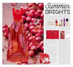 """Summer Bright"" by oksana-kolesnyk ❤ liked on Polyvore featuring Chanel, Christian Dior, Maybelline, Jimmy Choo, Oscar de la Renta, Dolce&Gabbana, Coast, Diamondere and Henri Bendel"