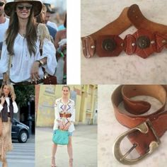 Look of The Day: #Bohemian style and our vintage #belts #nonaprirequellarmadiostyle #OOFD  #nonaprirequellarmadioconcept
