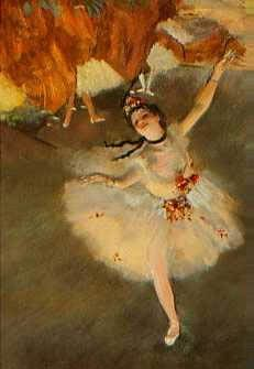 Edgar Degas (1834–1917), Dancer with a Bouquet of Flowers (Star of the Ballet), 1878