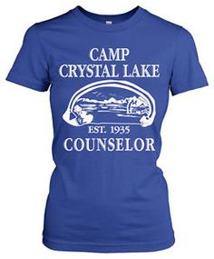 horror movie clothes | Womens-Camp-Crystal-Lake-T-Shirt-Classic-Horror-Movie-Shirts-M