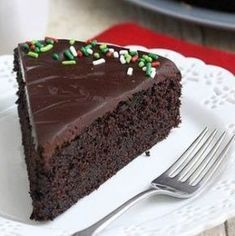 Easy Glazed Chocolate Cake by Tracey's Culinary Adventures Sweets Cake, Cupcake Cakes, Cupcakes, Food Cakes, Just Desserts, Delicious Desserts, Resep Cake, Cake Recipes, Dessert Recipes