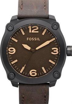 """Fossil Watch. $95. """"Russell"""" Leather."""