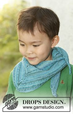 Rascal / DROPS Children 23-53 - Knitted shawl for children in DROPS Fabel.