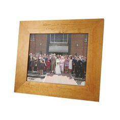 Engraved Landscape Wooden Photo Frame  from www.personalisedweddinggifts.co.uk :: ONLY £18.95