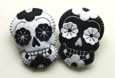 Felted Sugar Skulls.
