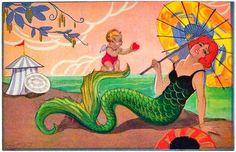 Melusina Mermaid: The Art Deco Mermaids of Carlo Chiostri