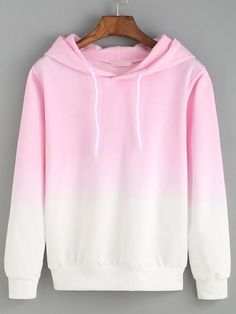 So creazy ! Just love ombre style so much ! This pink hoodie sweatshirt is so ad - Sweat Shirt - Ideas of Sweat Shirt - So creazy ! Just love ombre style so much ! This pink hoodie sweatshirt is so adorable ! i just can't leave cotton sweatshirt ! Cool Outfits, Casual Outfits, Fashion Outfits, Women's Fashion, Hooded Long Sleeve Shirt, Mode Kawaii, Jugend Mode Outfits, Vetement Fashion, Mode Style