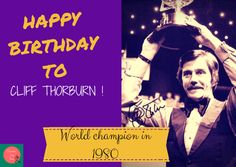 Snooker, my love: Happy birthday Cliff Thorburn