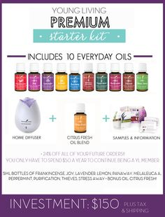 Here is the new premium starter kit for young living. Starting 11/17/2014