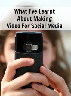 What I've Learnt About Making Video For Social Media. Tips for making vlogs and videos for Facebook Live, YouTube, Twitter, Instagram and Snapchat