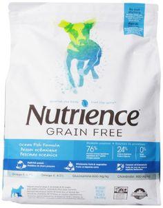 Nutrience Grain Free Dog Food, 18-Pound, Ocean Fish - List price: $46.99 Price: $41.99 Saving: $5.00 (11%)