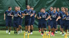 Italy team players in action during the training session at Coverciano at Coverciano on June 05, 2017 in Florence, Italy.
