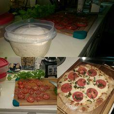 First run at making pizza #pizza #food #foodporn #yummy #love #dinner #salsa #recipe