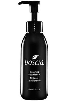 boscia Detoxifying Black Cleanser. Uni-sex skincare cleanser...matter of fact ALL products are Uni-sex! #boscia #preservativefree #botanical