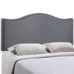 Grayson Linen Full Queen Headboard With Nailheads Only 150 Home Decor Pinterest Linens Queens And Gray