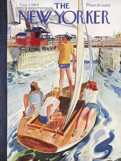 The New Yorker - Saturday, August 7, 1954 - Issue # 1538 - Vol. 30 - N° 25 - Cover by : Garrett Price