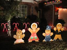 Gingerbread Man Christmas Yard Decoration - Updated