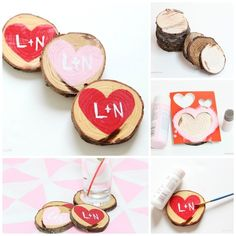 Wooden Coasters | 40 DIY Valentine's Day Gifts They'll Actually Want