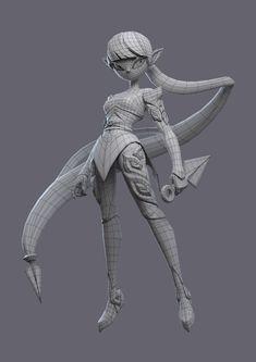 ArtStation - Elf warrior, Kontorn Boonyanate Zbrush Character, Alien Character, 3d Model Character, Character Modeling, Character Art, Elf Warrior, Design Visual, 3d Modelle, 3d Mesh