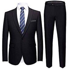 iHENGH Men/'s Suit Slim 2-Piece Suit Blazer Business Wedding Party Jacket Coat /& Pants