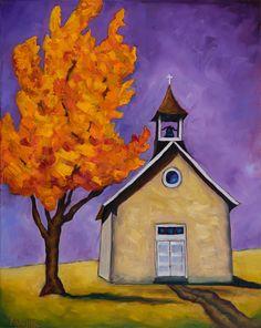 "Bobby Lee Krajnik |""Autumn's Blessings"" | 24 x 18 x 1.5"" | oil on linen San Miguel Mission, Arte Popular, Geronimo, Home Art, Bobby, Art Houses, Canvas Art, Barns, Blessings"