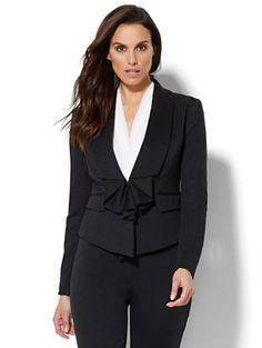 Shop 7th Avenue Jacket - Ruffle-Front. Find your perfect size online at the best price at New York & Company.