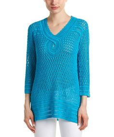 Barth Tessina Linen Sweater In Blue Calypso St Barth, Fitness Tattoos, Matching Couples, Knitting Designs, Boutiques, Color Patterns, Product Launch, Pullover, Sleeves