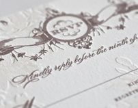 Romantic Bohemian Wedding Invitation by Atelier Isabey , via Behance